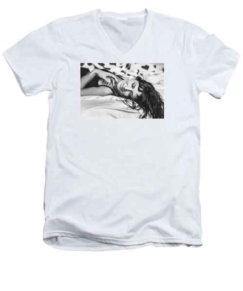 Bed Portraits Men's V-Neck T-Shirt