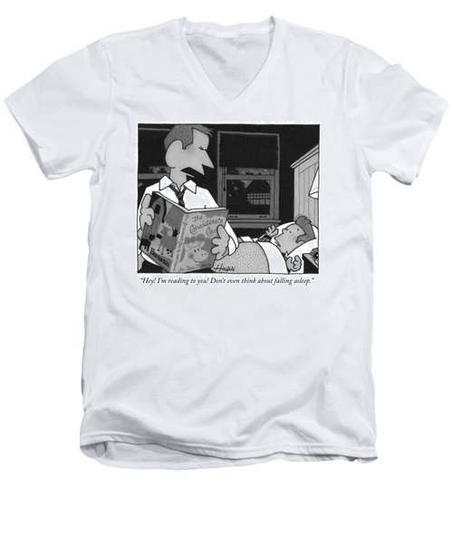 Bedtime Story Men's V-Neck T-Shirt