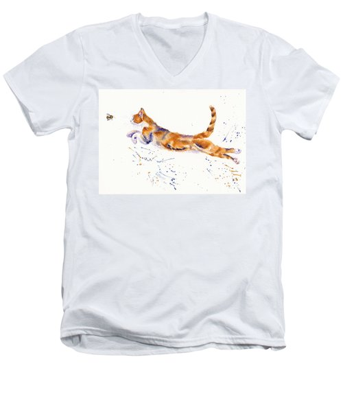 Bee Airborne Men's V-Neck T-Shirt