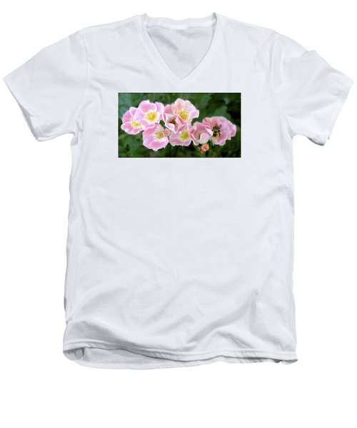 Bee And Roses Men's V-Neck T-Shirt