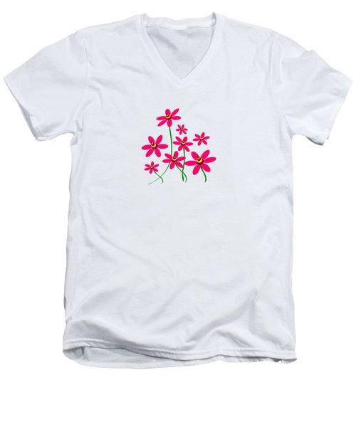 Bee Flowers Men's V-Neck T-Shirt