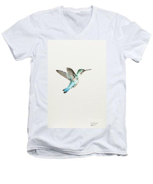 Bee Hummingbird Men's V-Neck T-Shirt