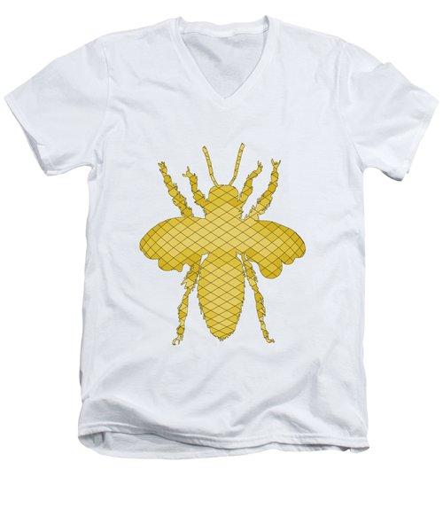 Bee Men's V-Neck T-Shirt by Mordax Furittus