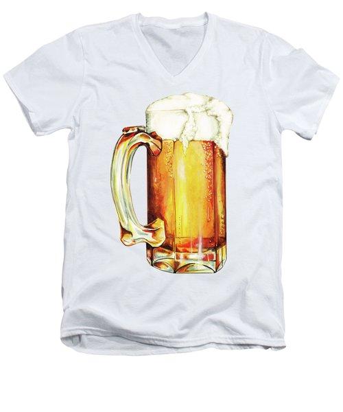 Beer Pattern Men's V-Neck T-Shirt