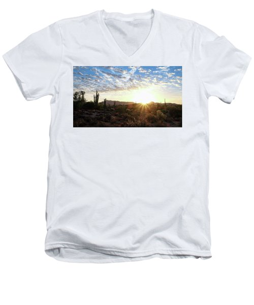 Beginning A New Day Men's V-Neck T-Shirt