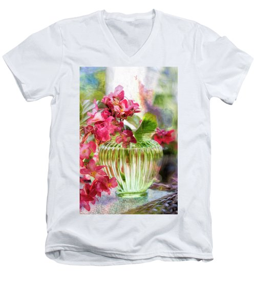 Begonia Art Men's V-Neck T-Shirt