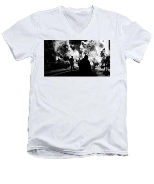 Behind The Smoke Men's V-Neck T-Shirt