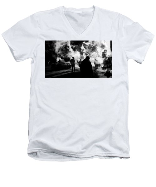 Behind The Smoke Men's V-Neck T-Shirt