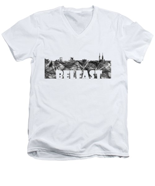 Belfast Ireland Skyline Men's V-Neck T-Shirt