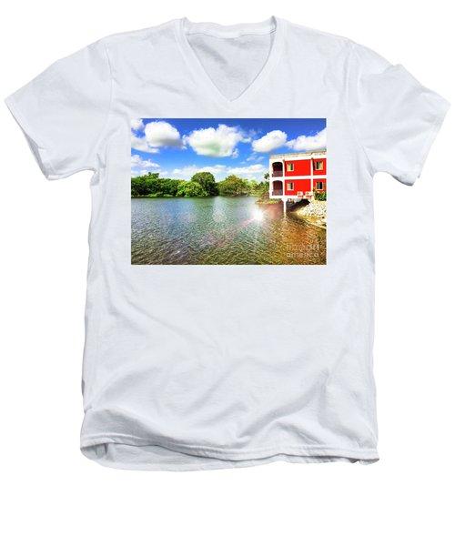 Belize River House Reflection Men's V-Neck T-Shirt