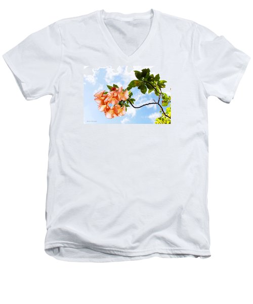 Bell Flowers In The Sky Men's V-Neck T-Shirt