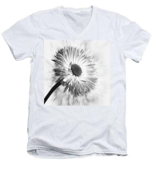 Bellis In Mono  #flower #flowers Men's V-Neck T-Shirt