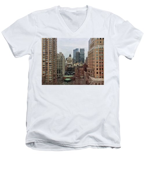 Belvedere Hotel New York City  Room With A View Men's V-Neck T-Shirt