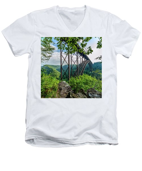 Beneath New River Gorge Bridge Men's V-Neck T-Shirt
