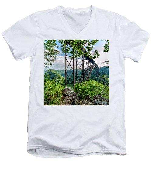Beneath New River Gorge Bridge Men's V-Neck T-Shirt