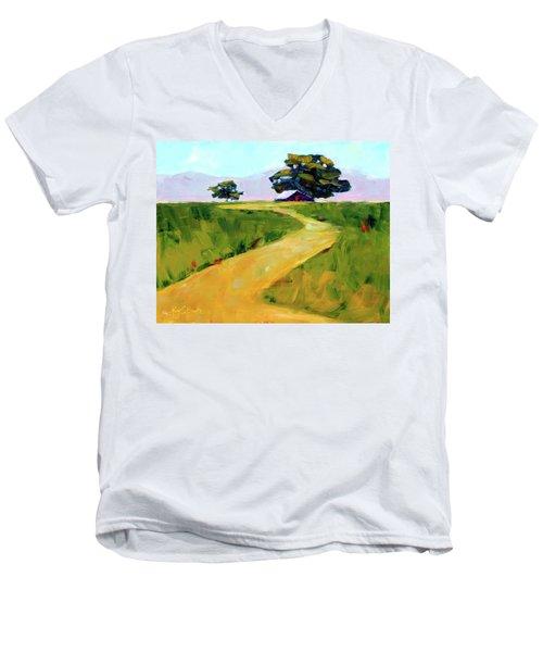 Beneath The Cottonwoods Men's V-Neck T-Shirt