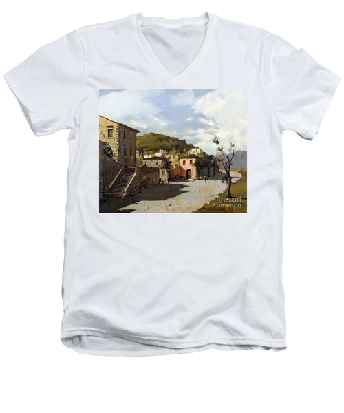 Provincia Di Benevento-italy Small Town The Road Home Men's V-Neck T-Shirt