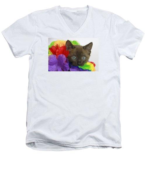 Bengal Colors Men's V-Neck T-Shirt