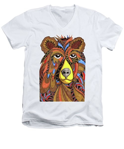 Benjamin Bear Men's V-Neck T-Shirt