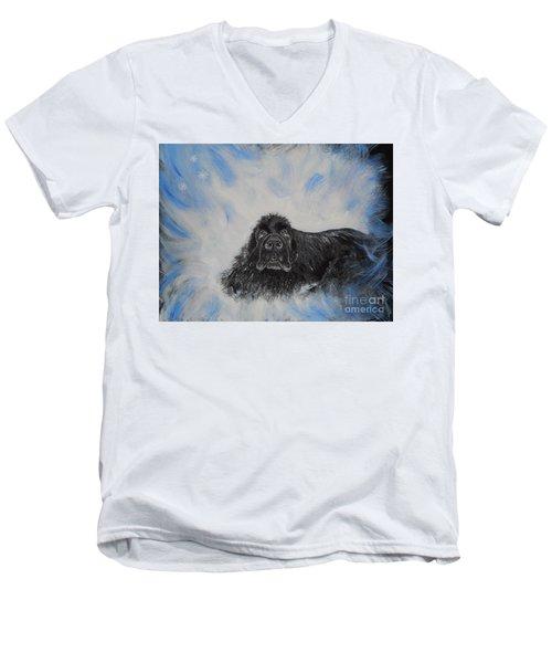 Bennies Love Men's V-Neck T-Shirt by Lisa Rose Musselwhite