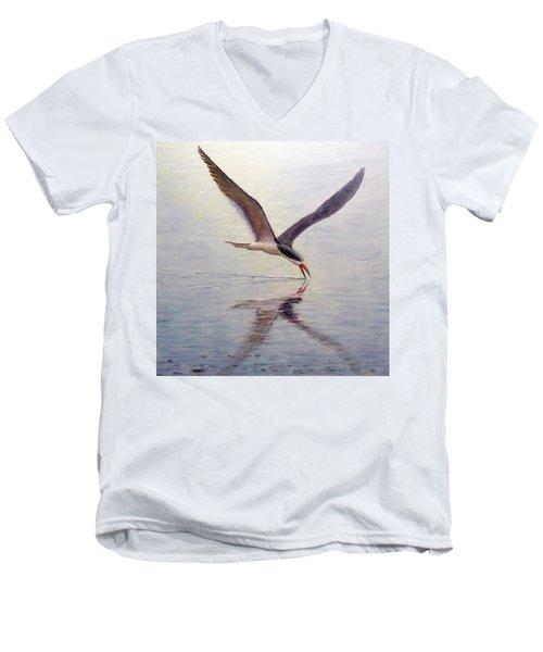 Black Skimmer Men's V-Neck T-Shirt