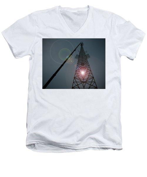 Berkeley Springs Men's V-Neck T-Shirt by Robert Geary