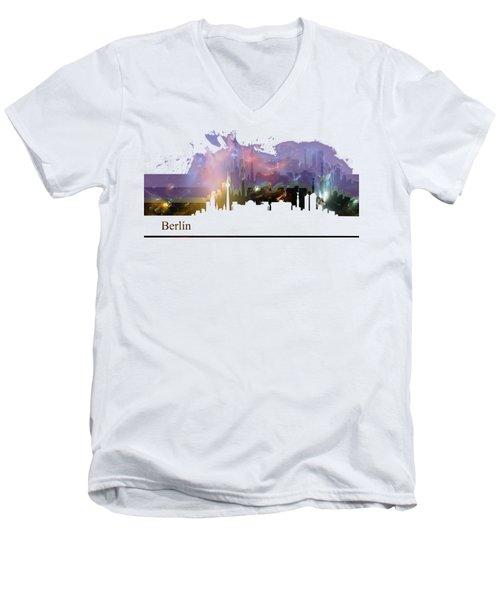 Berlin 2 Men's V-Neck T-Shirt by Alberto RuiZ