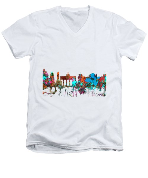 Berlin Germany Skyline  Men's V-Neck T-Shirt