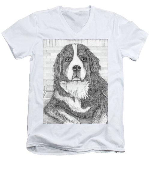 Bernese Mountain Dog  Men's V-Neck T-Shirt
