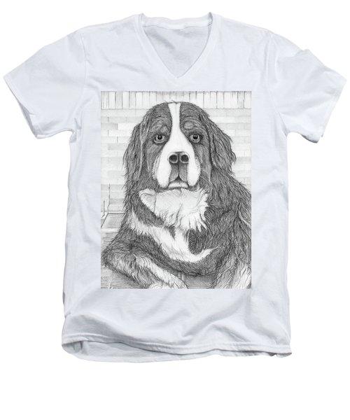 Bernese Mountain Dog  Men's V-Neck T-Shirt