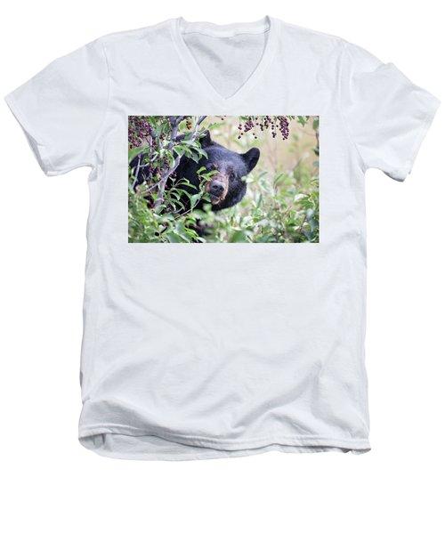 Berry Picking  Men's V-Neck T-Shirt