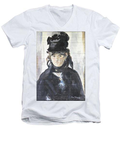Berthe Morisot Men's V-Neck T-Shirt by Stan Tenney