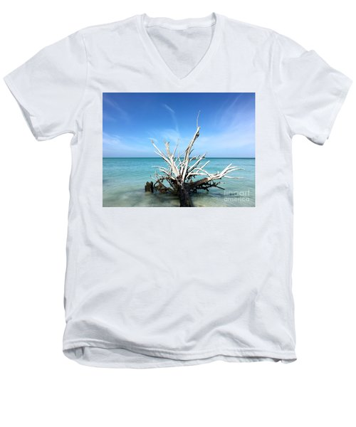 Beside Still Waters Men's V-Neck T-Shirt by Margie Amberge
