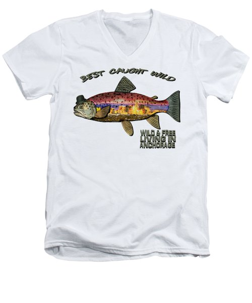 Fishing - Best Caught Wild On Light Men's V-Neck T-Shirt
