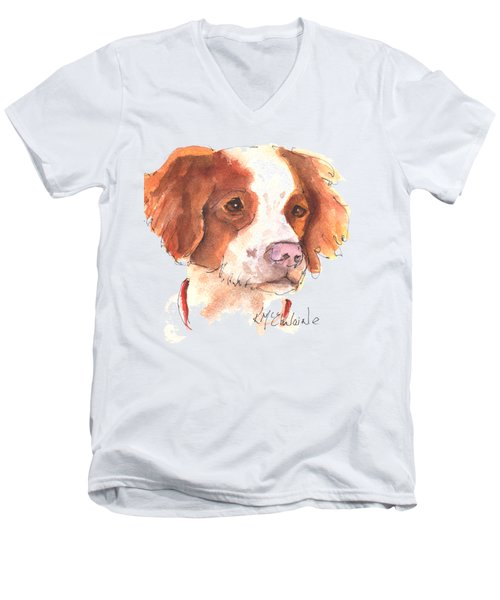 Best Dog By Kathleen Mcelwaine Men's V-Neck T-Shirt by Kathleen McElwaine