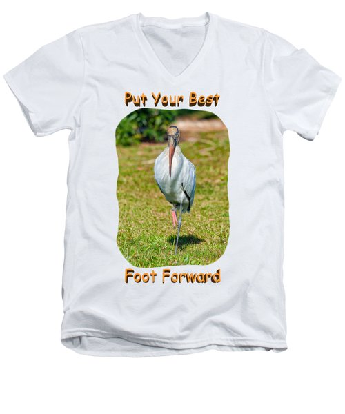 Best Foot Forward Men's V-Neck T-Shirt by John M Bailey