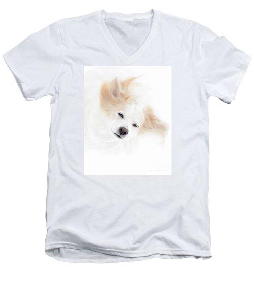 Best Friend Men's V-Neck T-Shirt by Sue Stefanowicz