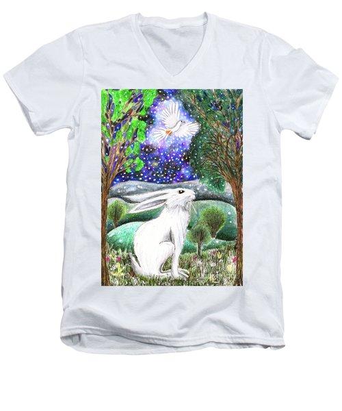 Between The Trees Men's V-Neck T-Shirt