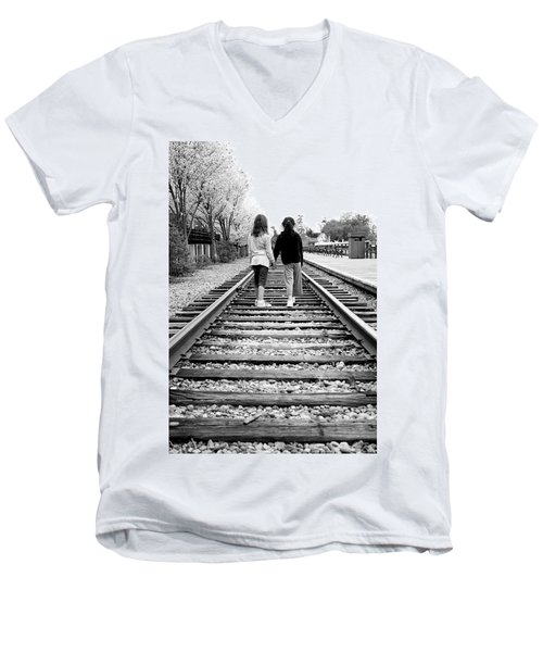 Men's V-Neck T-Shirt featuring the photograph Bff's by Greg Fortier