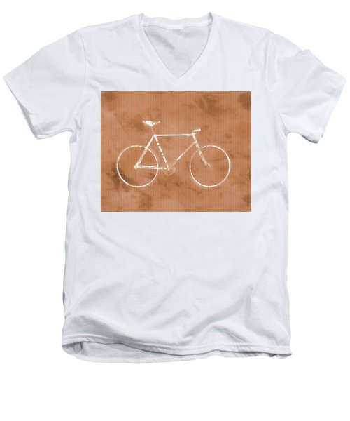 Bicycle On Tile Men's V-Neck T-Shirt by Dan Sproul