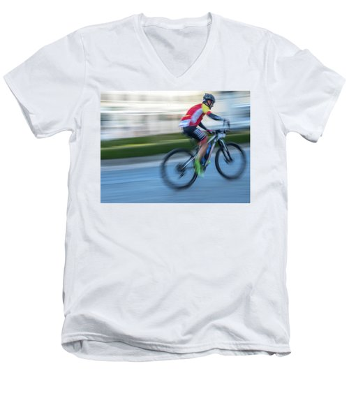 Bicycle Race Men's V-Neck T-Shirt
