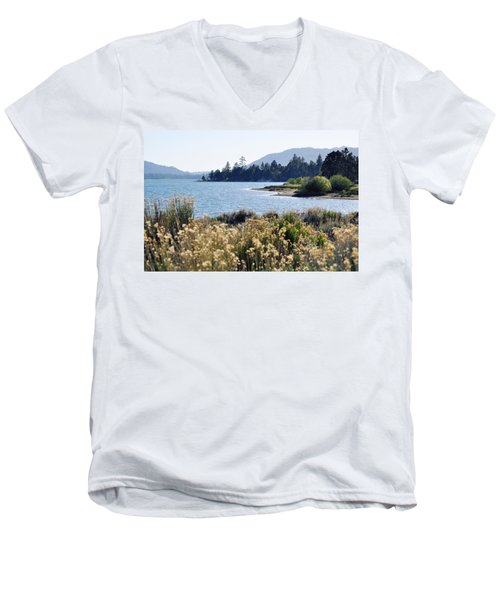 Big Bear Lake Shoreline Men's V-Neck T-Shirt