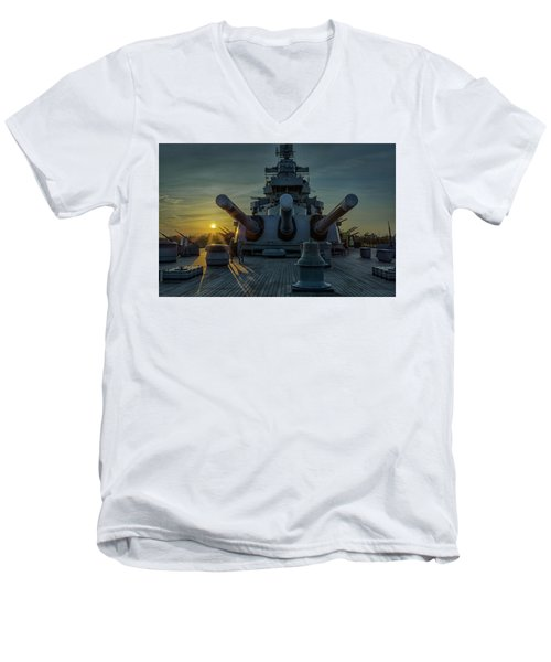 Big Guns At Sunset Men's V-Neck T-Shirt
