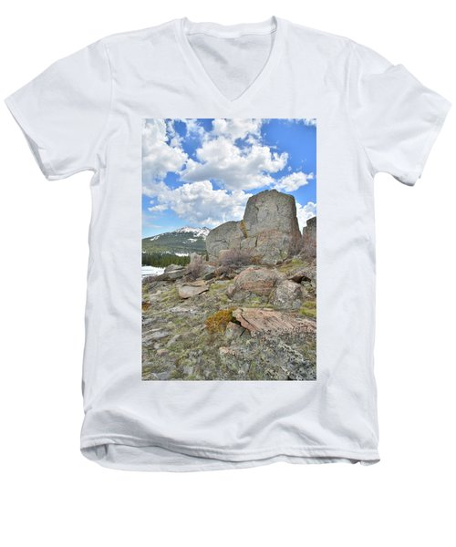 Big Horn Pass Rock Croppings Men's V-Neck T-Shirt