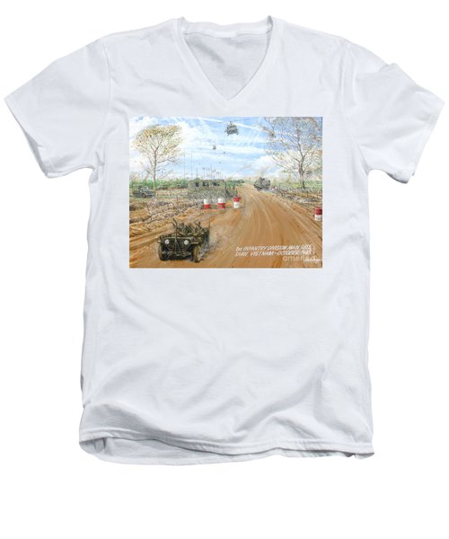 Big Red One Main Gate Di An Vietnam 1965 Men's V-Neck T-Shirt