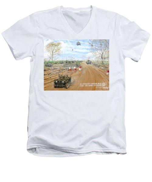 Big Red One Main Gate Di An Vietnam 1965 Men's V-Neck T-Shirt