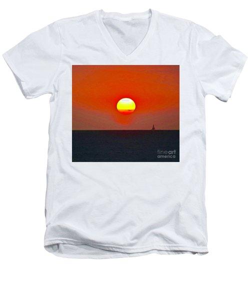 Big Sun Men's V-Neck T-Shirt