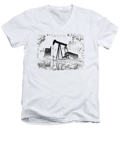 Big Thicket Oilfield Men's V-Neck T-Shirt