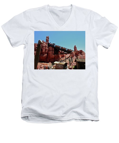 Big Thunder Mountain Walt Disney World Mp Men's V-Neck T-Shirt by Thomas Woolworth