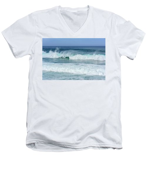 Big Waves Men's V-Neck T-Shirt by Marion McCristall